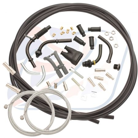 UNIVERSAL TWIN THROTTLE CABLE KIT 2.35m