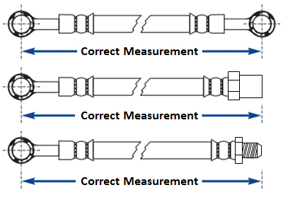 Correct Measurement for existing hoses